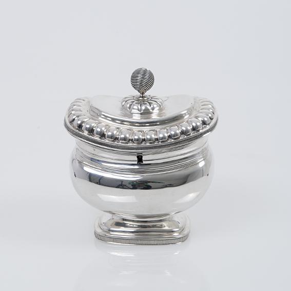 Antiek zilveren theebus